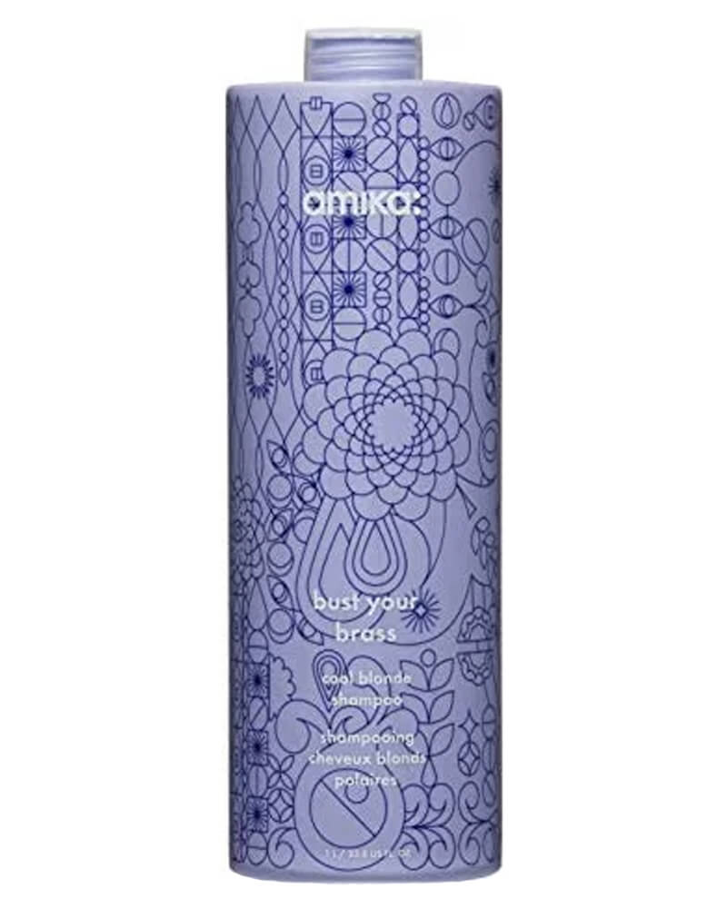 Amika: Bust Your Brass Cool Blonde Shampoo 1000 ml