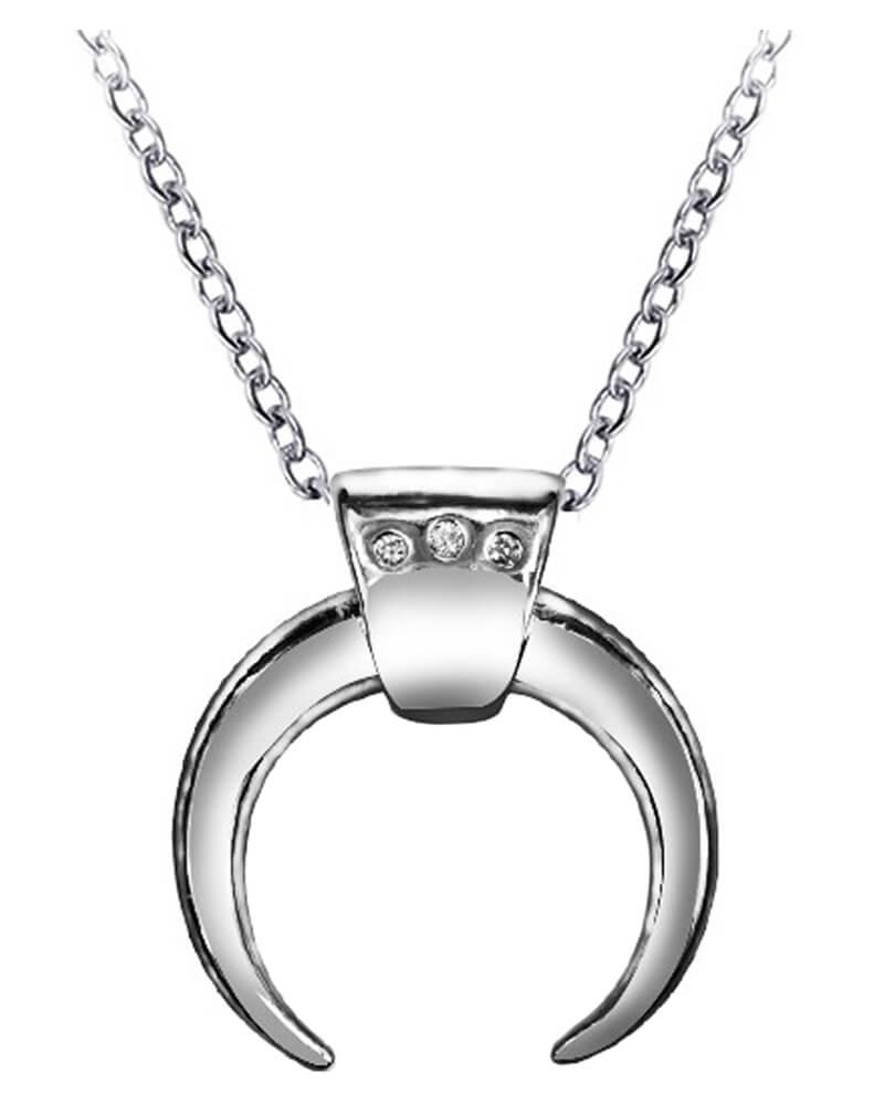 Everneed Luna Moon Necklace Silver (U)