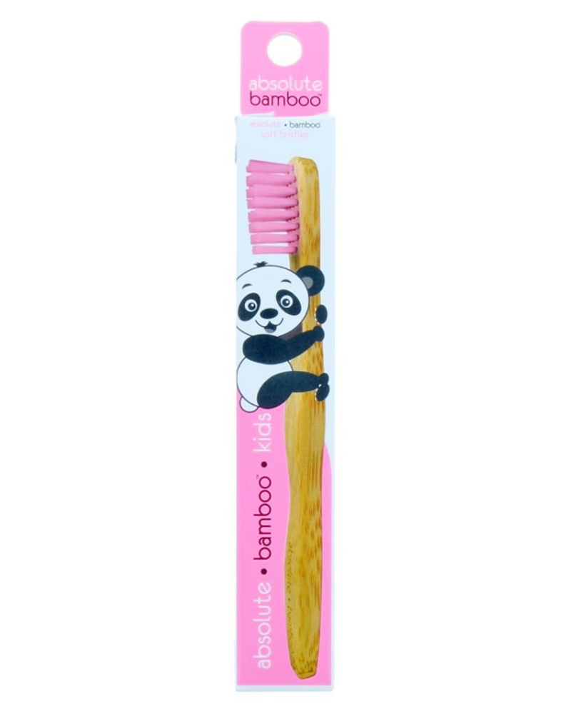 Absolute Bamboo Kids Soft Toothbrush Pink