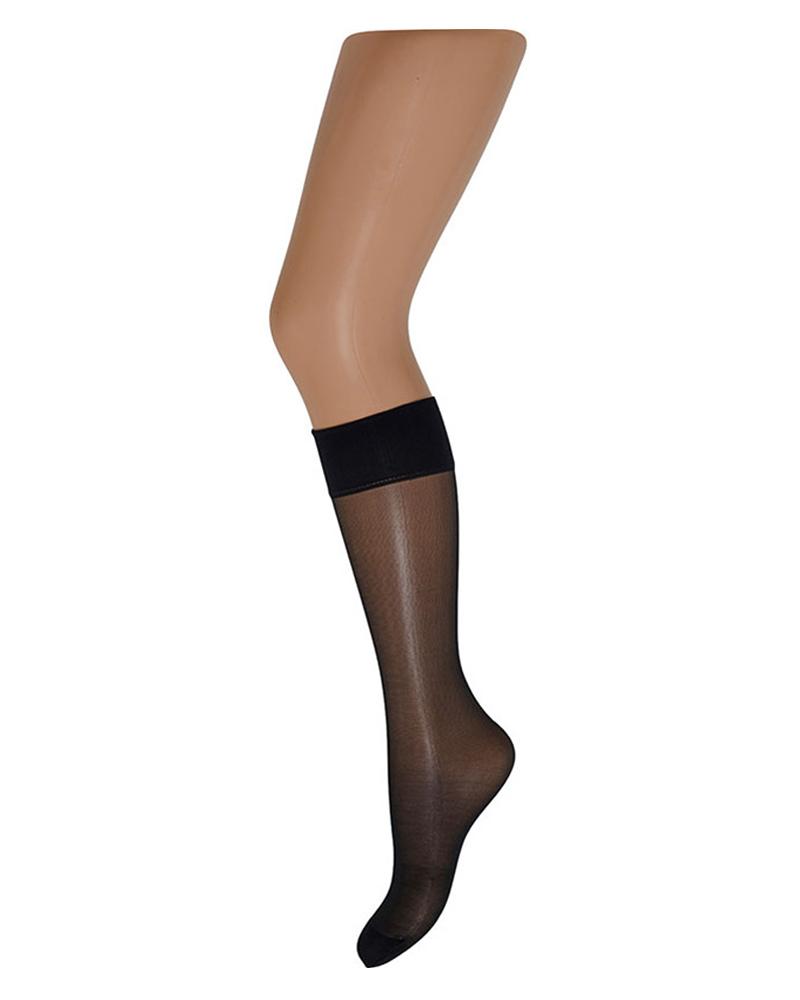 Decoy Silk Look Knee-High (20 Den) Black
