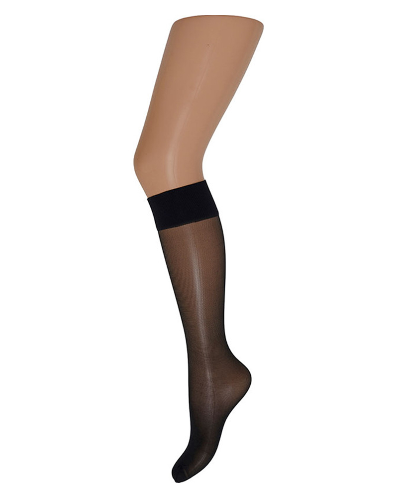 Decoy Soft Luxury Knee-High (15 Den) Black