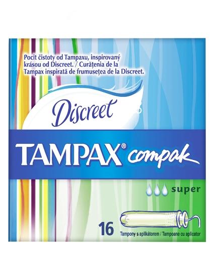 Tampax Compak Discreet - Super