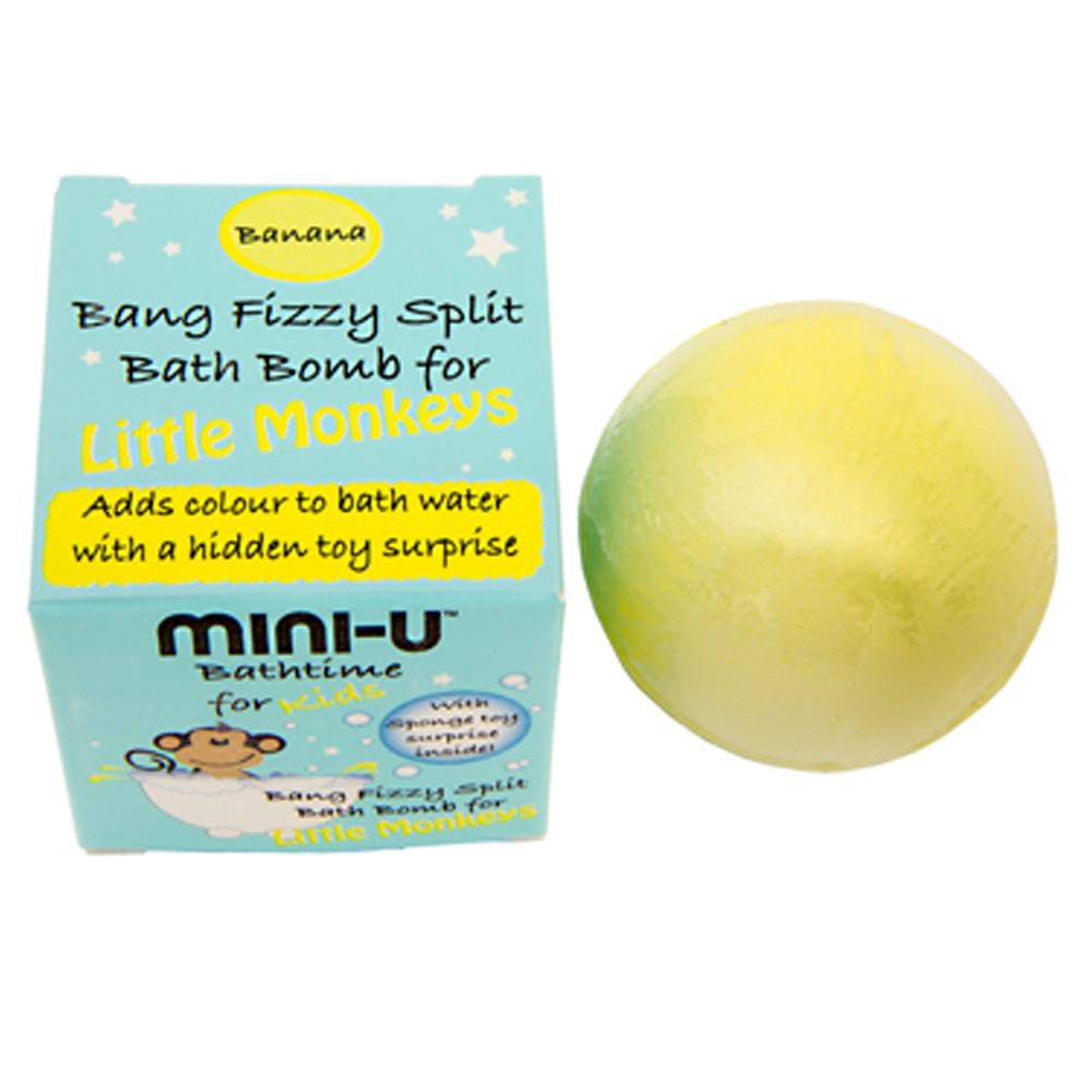 MINI-U Bath Bomb for Little Monkeys - Banana (Gul)