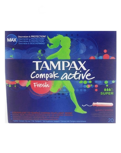 Tampax Compak Active - Fresh Super