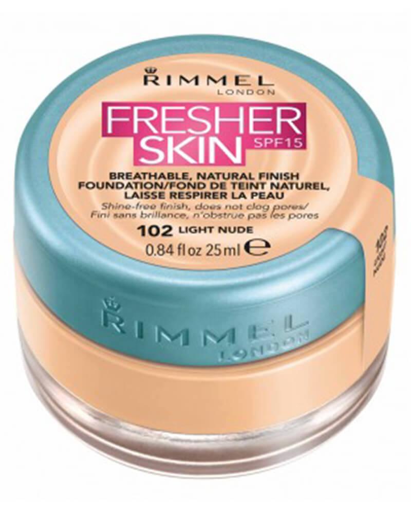 Rimmel Fresher Skin Foundation SPF 15 102 Light Nude 25 ml
