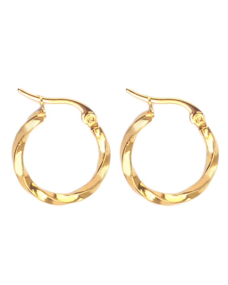 Everneed Tilla Twist Large gold Hoop