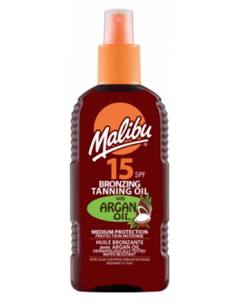 Malibu Bronzing Tanning Oil Spray Argan Oil SPF 15 200 ml
