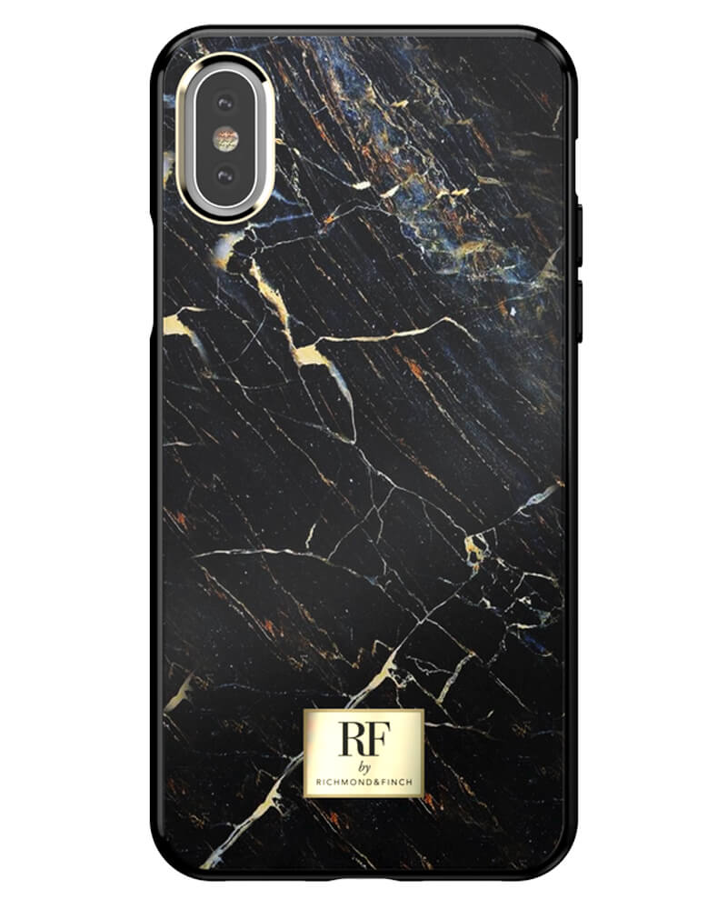 RF By Richmond And Finch Black Marble iPhone Xs Max Cover