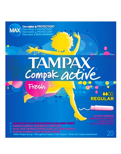 Tampax Compak Active - Fresh Regular