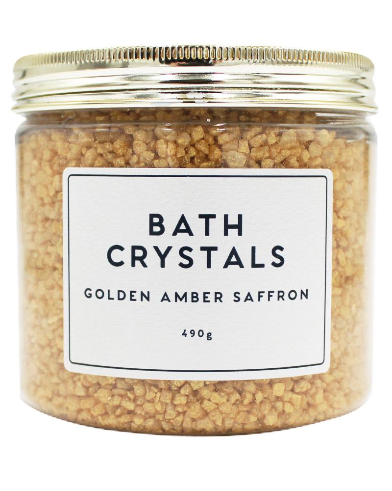 Wonder Spa Golden Amber Saffron Bath Crystals 490 g