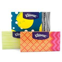 Kleenex Design Boks Lommetørklæde Ass. Farver