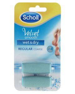 Scholl Velvet Smooth - Wet And Dry 2x Refill - Medium grov