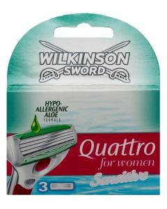 Wilkinson Sword - Quattro for Women - Sensitive 3 pak (U)