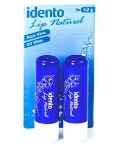 Idento Lip Naturel, Aloe Vera 2pak (Mørke Blå)