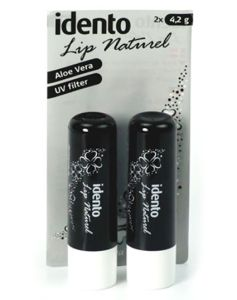 Idento Lip Naturel, Aloe Vera 2pak (Sort)