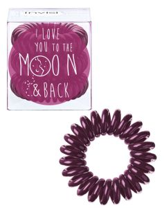 Invisibobble Bordeaux - I Love You to the moon and back 3 stk