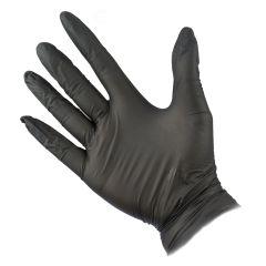 Efalock Emotion Nitril handsker Sorte 2 stk. Large (8-8,5)