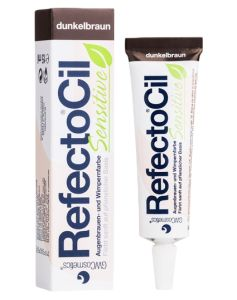Refectocil Sensitive Bryn og Vippefarve - Dark Brown 15 ml