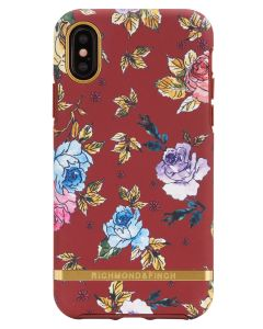 Richmond And Finch Red Floral iPhone X/Xs Cover