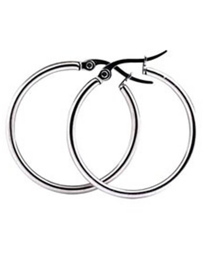 Everneed Mille - Silver Hoop Earrings Large