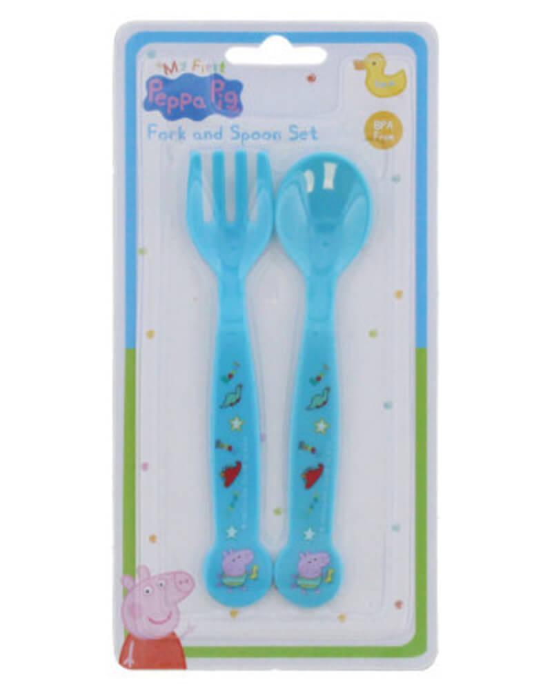 Peppa Pig Fork & Spoon Set Blue