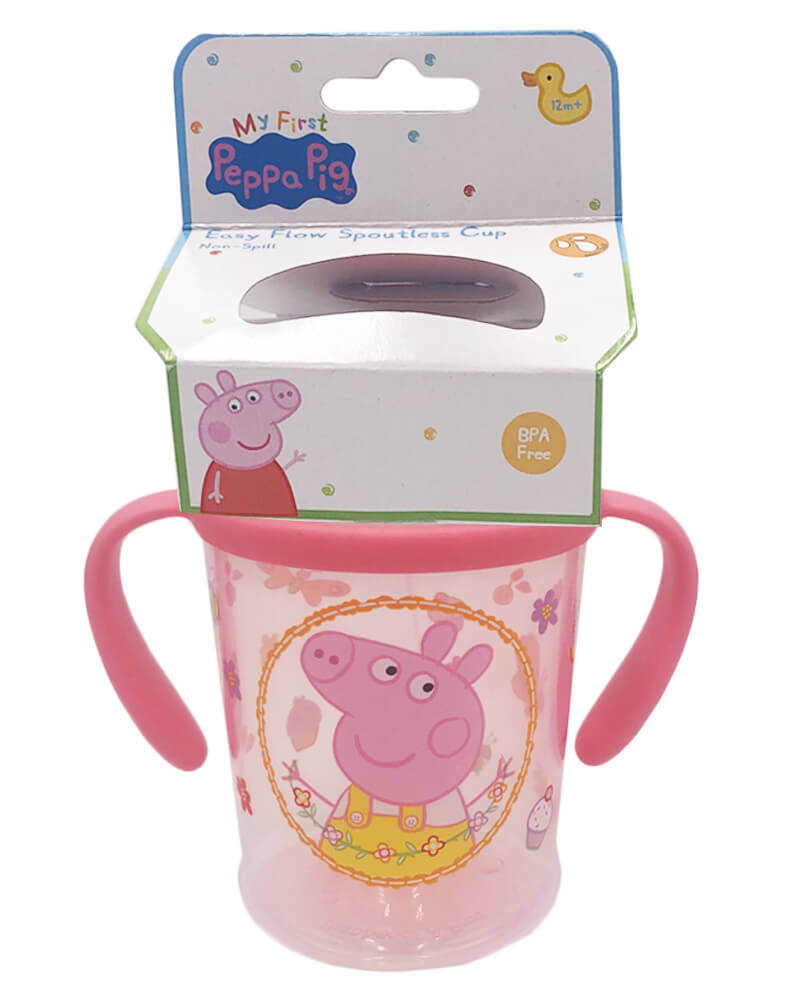 Peppa Pig Easy Flow Spoutless Cup Pink