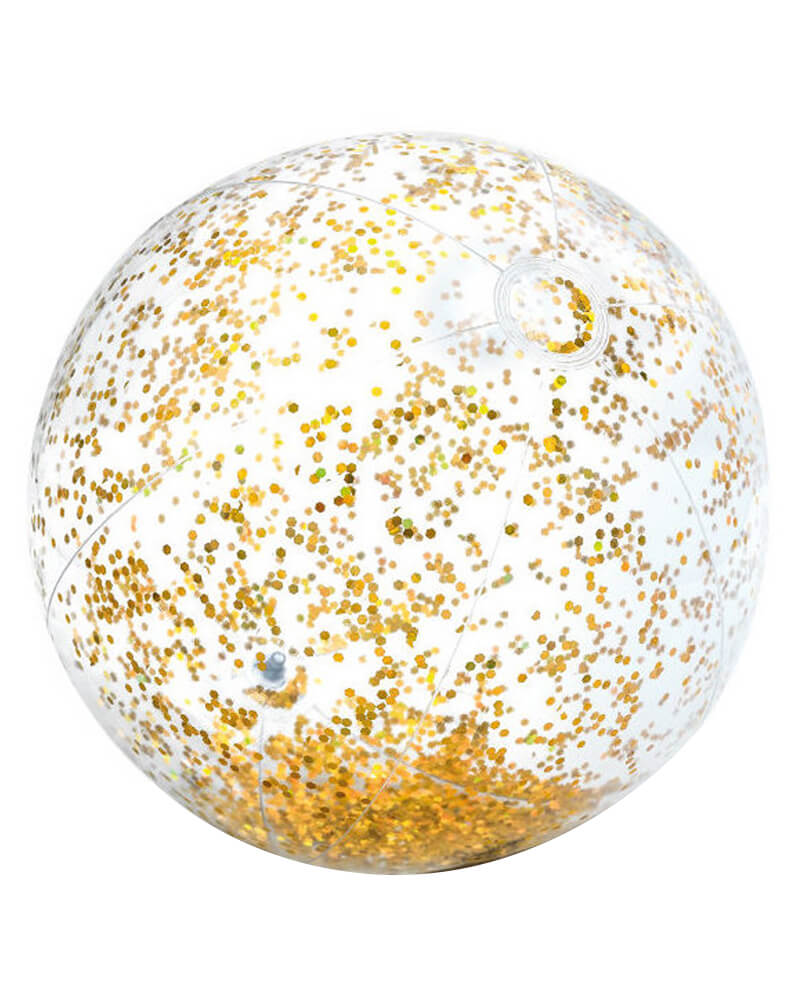 Intex Transparant Gold Glitter Beach Ball