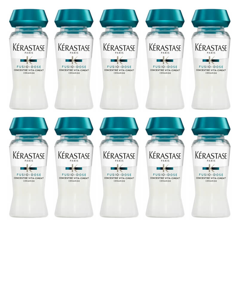 10 x Kerastase Fusio-Dose Concentré Vita-Ciment 12 ml