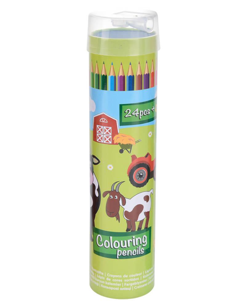 Krea Colouring Pencils Green Box