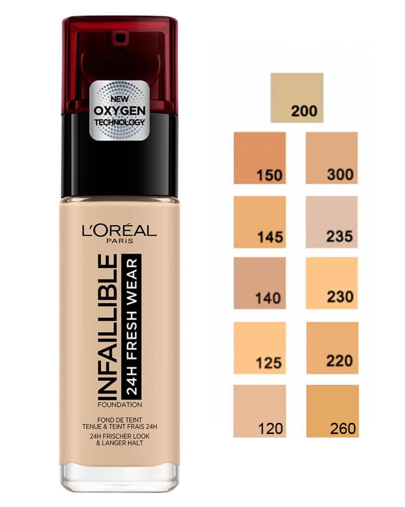 Loreal Infaillible Stay Fresh Foundation - Natural Rose 125 30 ml
