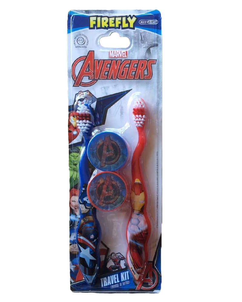 Marvel Avengers Travel Kit Toothbrushes (3+ years)