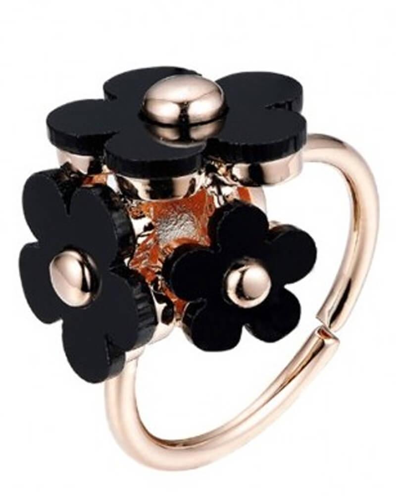 Everneed flower ring Black Honey Daisy Ring (U)
