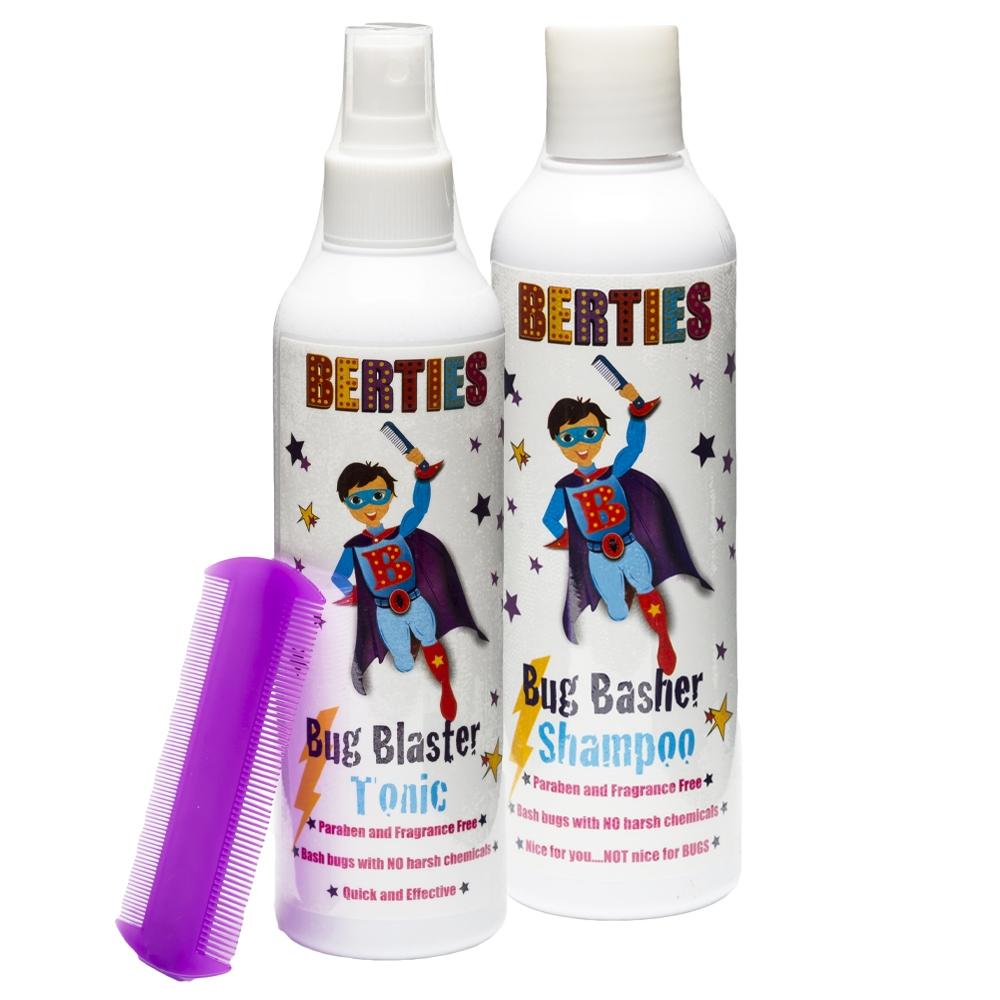 Berties Sættilbud Shampoo + Tonic + Gratis Lusekam